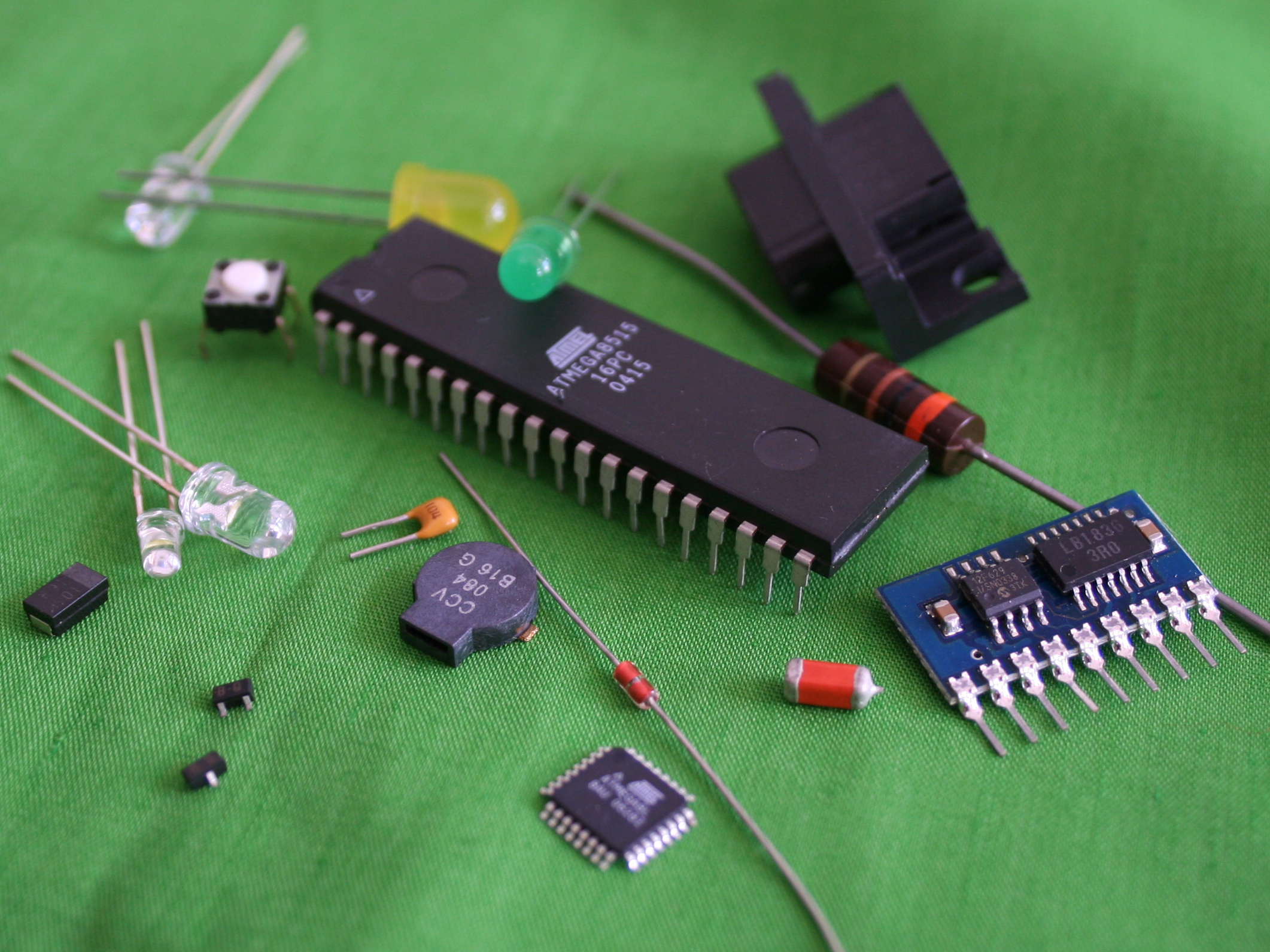 high low tech electronic components