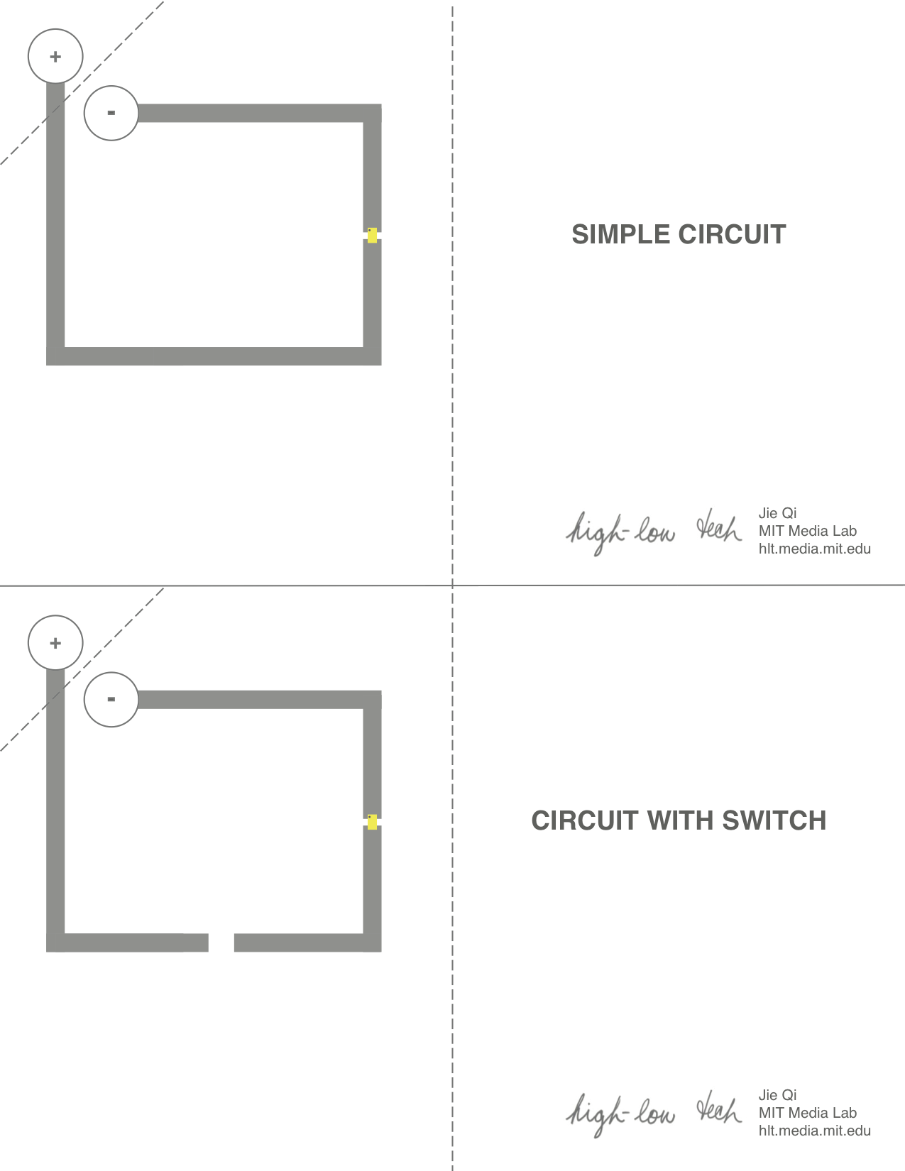 High Low Tech Paper Circuits Simple Push Button Switch Wiring Diagram Electrical Connections