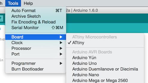 ATtiny Arduino 1.6